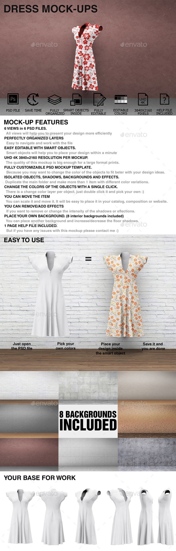 Dress Mockups - Women Clothing Mockups - Miscellaneous Apparel