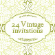 Vintage wedding invitations - GraphicRiver Item for Sale
