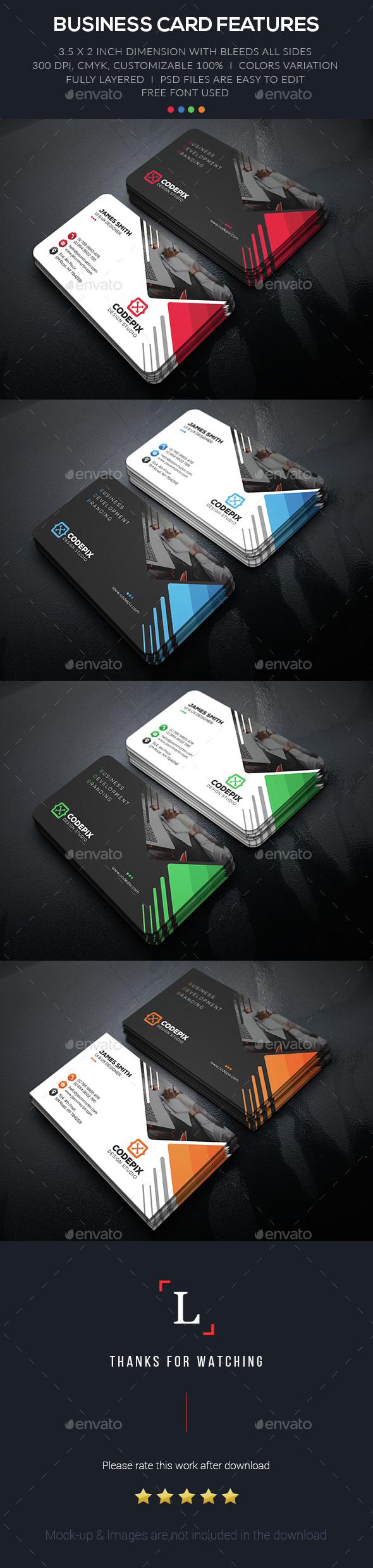Development Business Card - Business Cards Print Templates