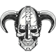 Viking Skull in Helmet - GraphicRiver Item for Sale