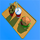 Low Poly Burger Menu - 3DOcean Item for Sale