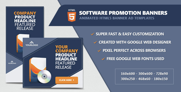 Software Promotion Banners - HTML5 Animated - CodeCanyon Item for Sale