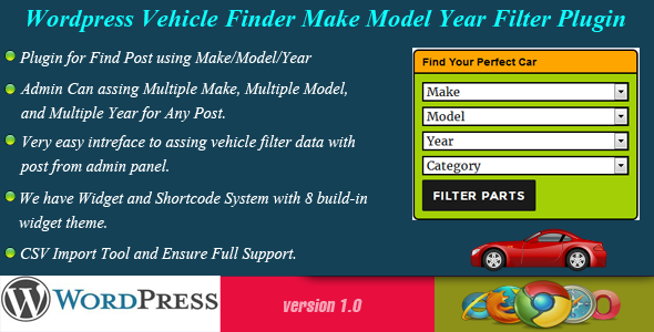 Wordpress Vehicle Finder - Make/Model/Year - CodeCanyon Item for Sale
