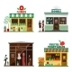 Set of Flat Design City Public Buildings - GraphicRiver Item for Sale