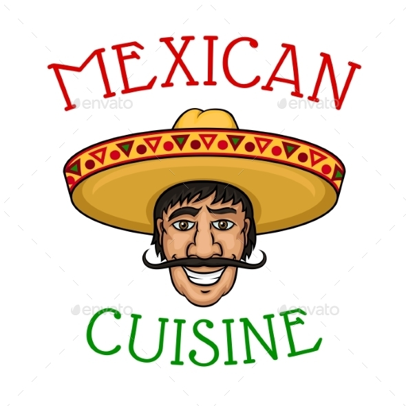 National Mexican Cuisine Chef in Sombrero - People Characters