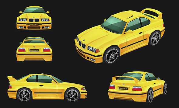 BMW Low Poly  - 3DOcean Item for Sale