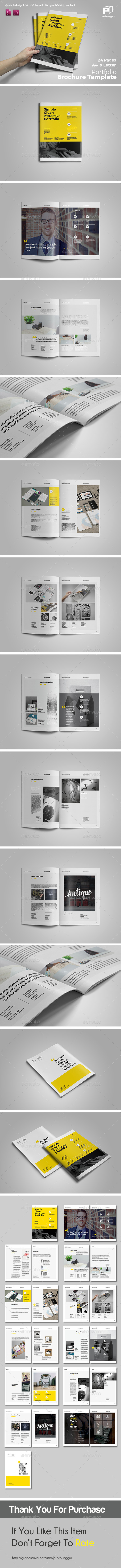 Clean Potrait Multipurpose Brochure Vol.2 - Portfolio Brochures