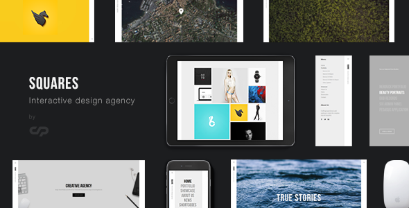 Squares - Interactive Design Agency Portfolio WordPress