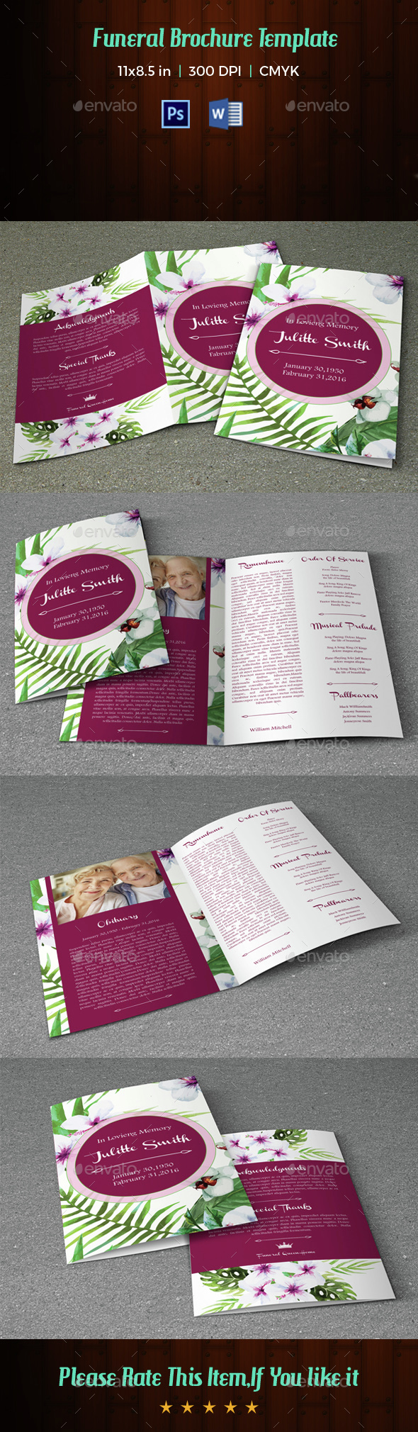 Funeral Program Template-V31 - Informational Brochures
