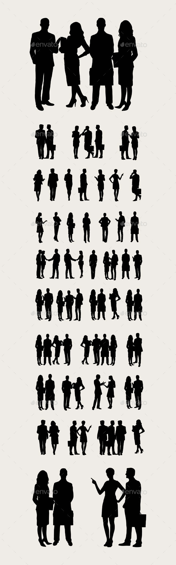 Business Silhouettes - People Characters