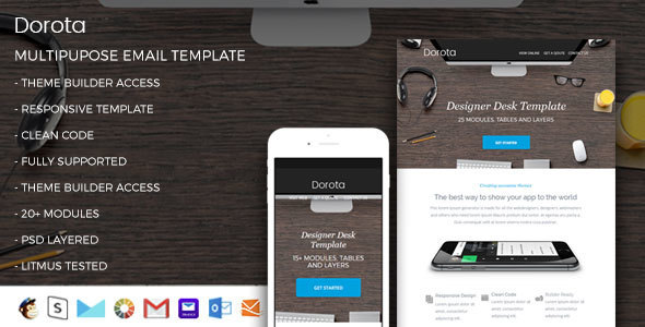 Dorota - Responsive Email Template + StampReady Builder