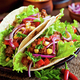 Mexican tacos with meat, vegetables and red onion - PhotoDune Item for Sale