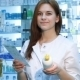 Pharmacist Woman Standing With Recipe - VideoHive Item for Sale