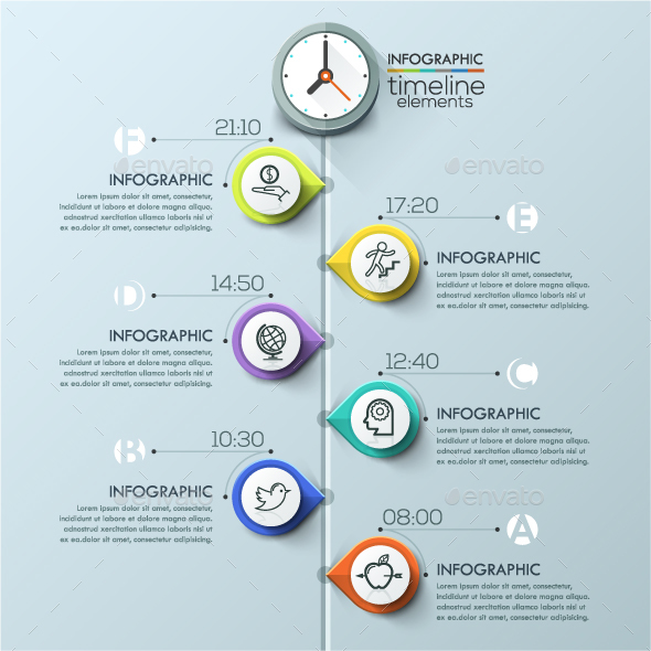 Modern Infographics Timeline Template