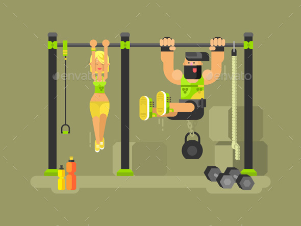 Man and Woman Fitness - Sports/Activity Conceptual