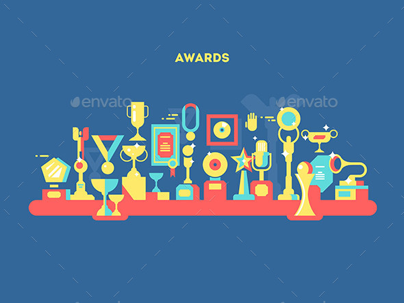 Awards Set Design Flat - Man-made Objects Objects