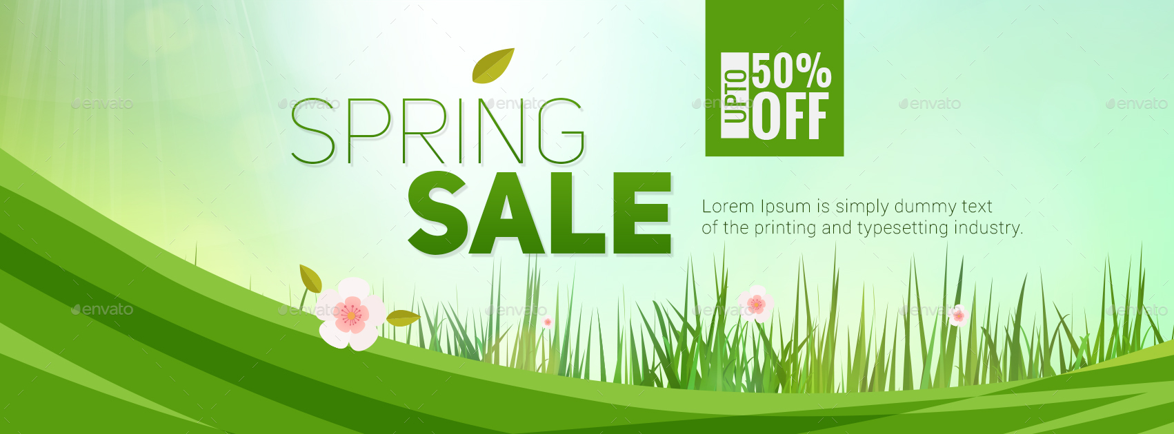 Spring Sale Facebook Covers 3 Designs By Hyov Graphicriver
