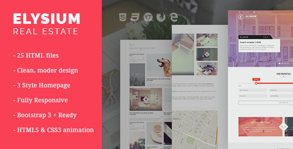 Elysium – Real Estate HTML5 Template