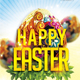 Easter party flyer template - GraphicRiver Item for Sale