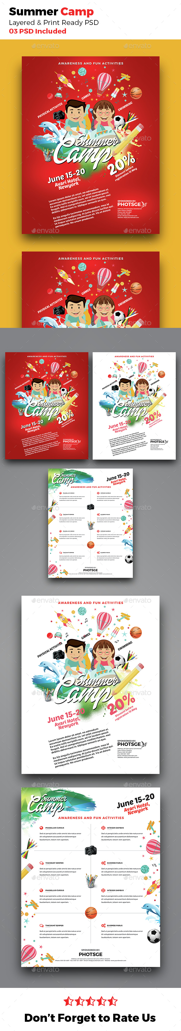 Summer Camp Flyer - Corporate Flyers
