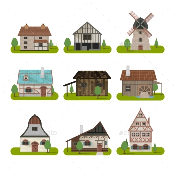 Medieval Ancient Buildings Set - Buildings Objects