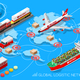 Logistic Icon 03 Vehicle Isometric - GraphicRiver Item for Sale