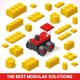 Toy Block Farm 02 Games Isometric - GraphicRiver Item for Sale