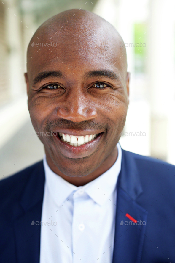 Smiling older african american businessman - Stock Photo - Images