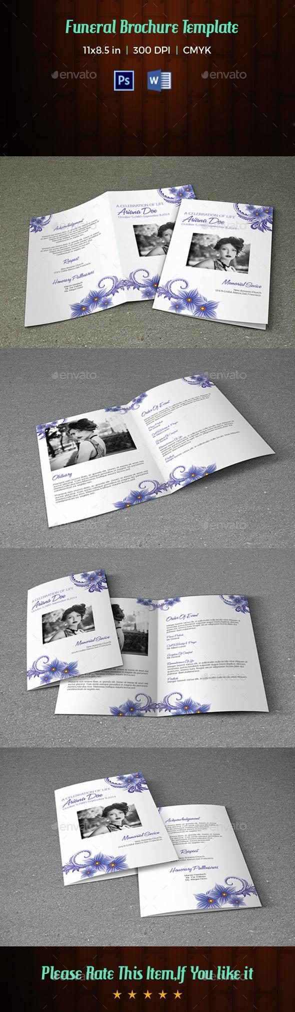 Funeral Program Template-V32 - Informational Brochures