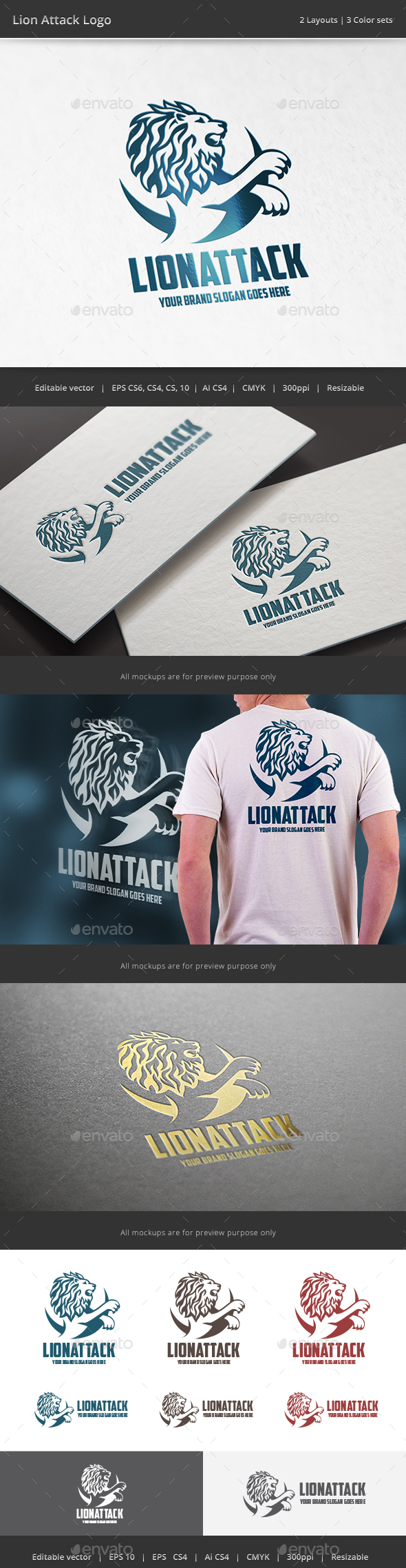 Lion Attack Logo