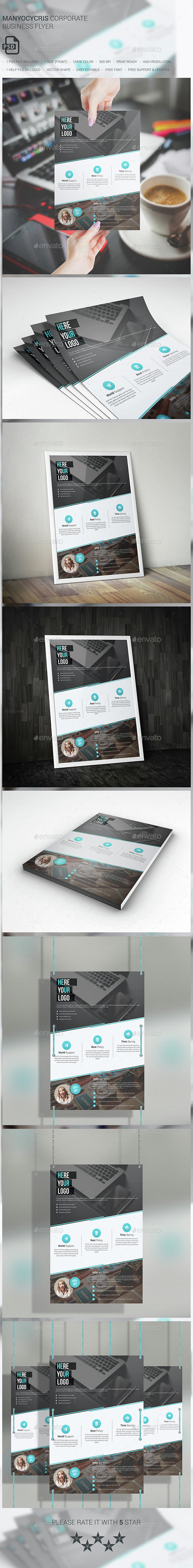 Manyocycris Corporate Business Flyer - Corporate Flyers