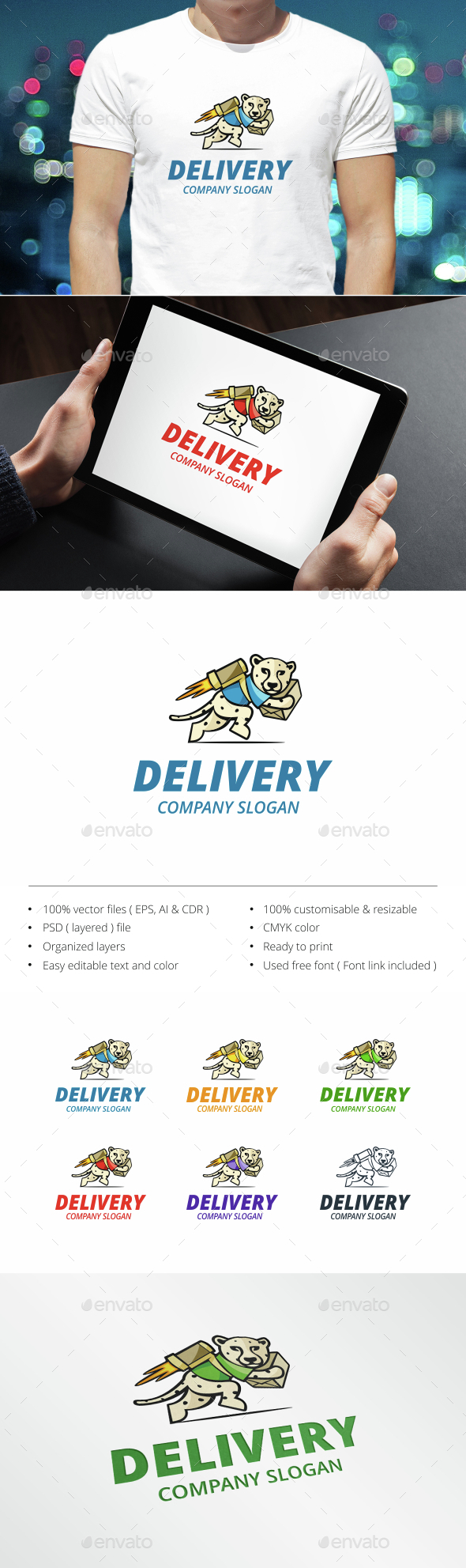 Delivery - Animals Logo Templates
