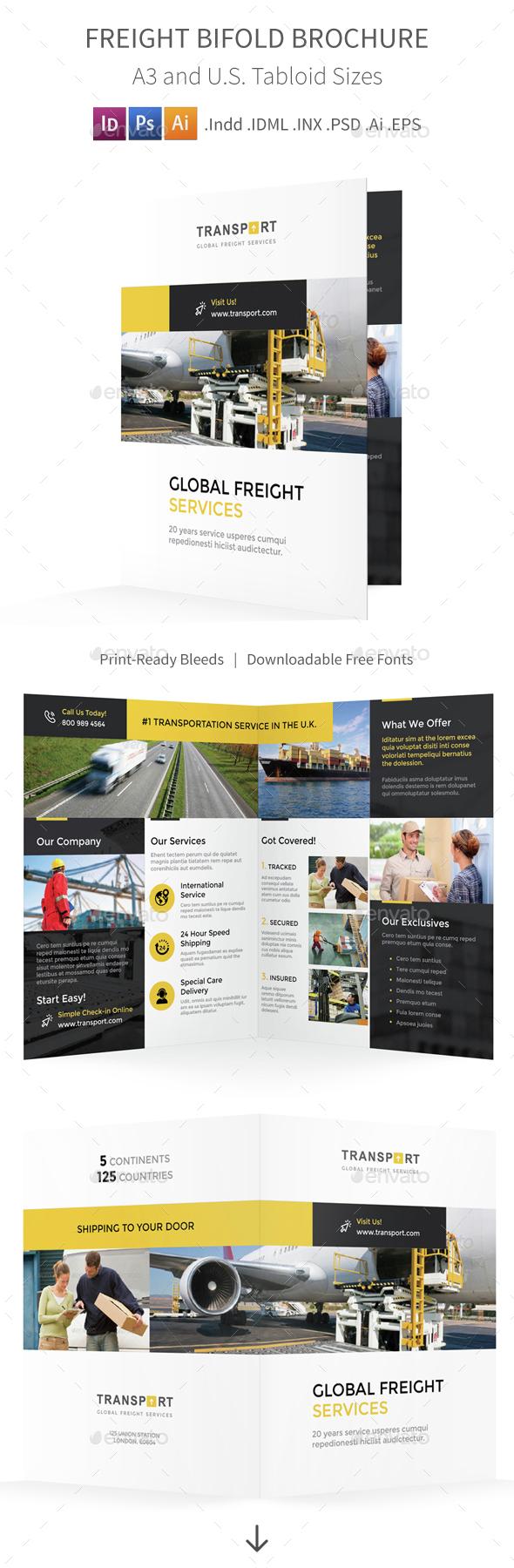 Freight Bifold / Halffold Brochure - Informational Brochures