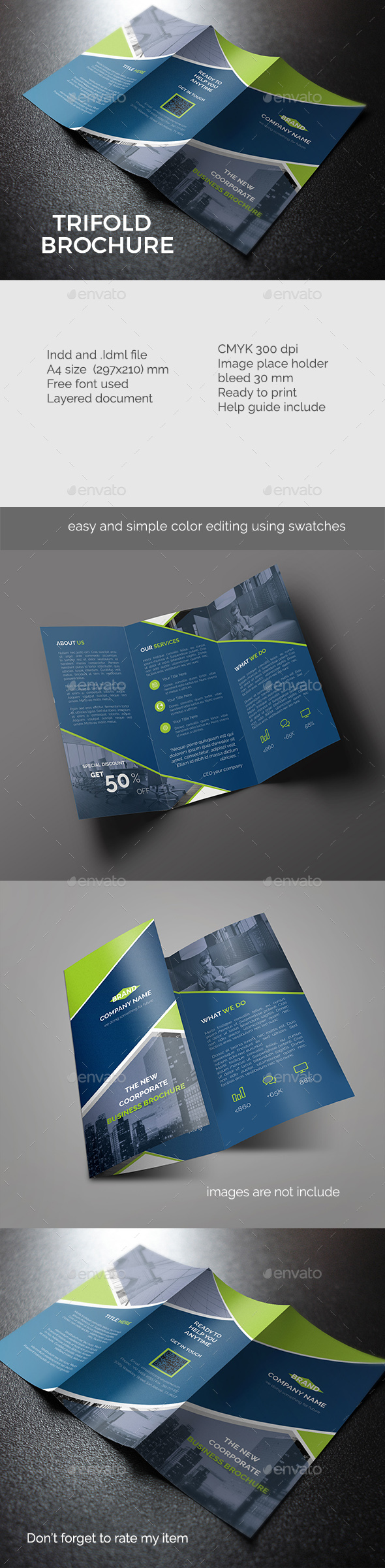 Creative trifold brochure - Corporate Brochures