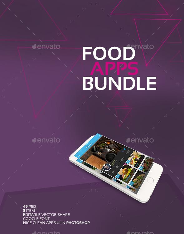 Food Apps UI Bundle  - User Interfaces Web Elements