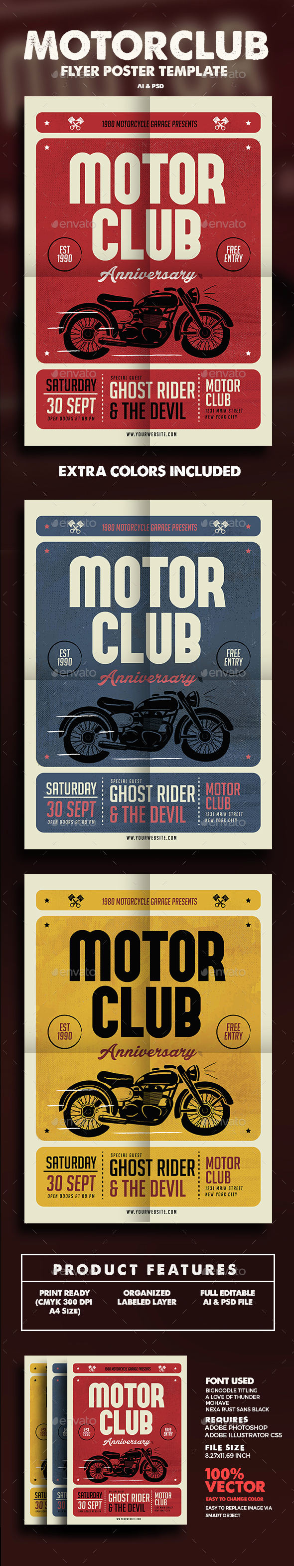Motorclub Flyer - Events Flyers