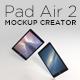 Pad Air 2 Mockup Creator - GraphicRiver Item for Sale