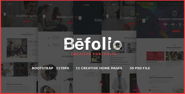 Befolio - Creative Multi-Purpose PSD Template - Portfolio Creative