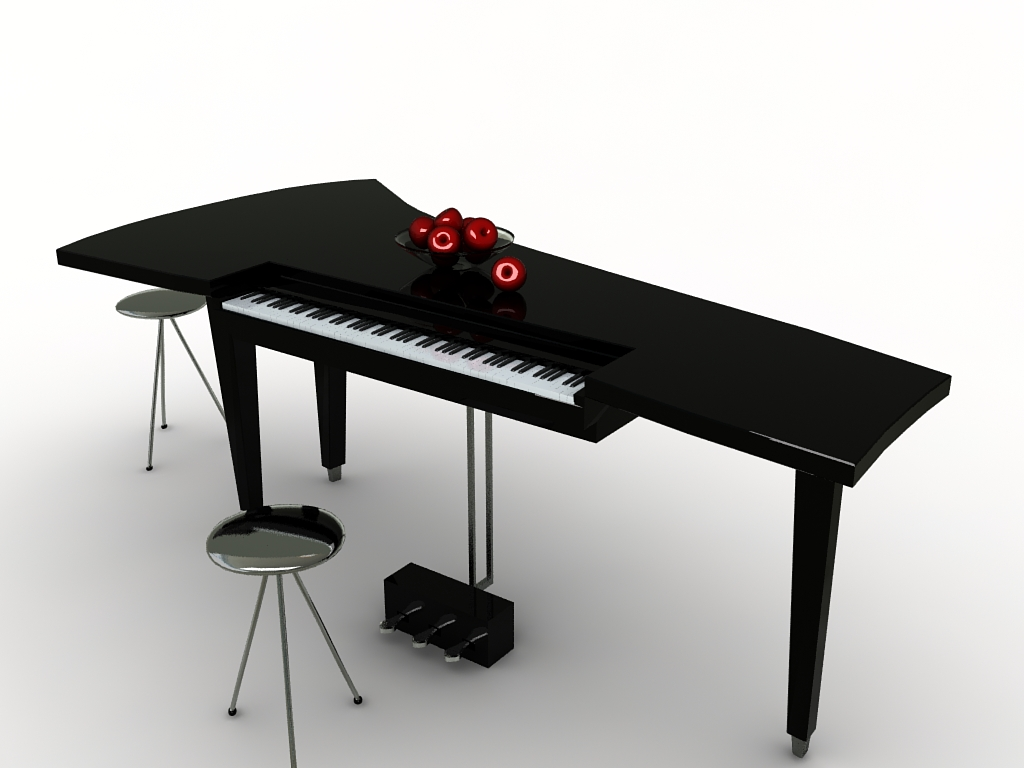 Modern Piano By Candy22 3docean