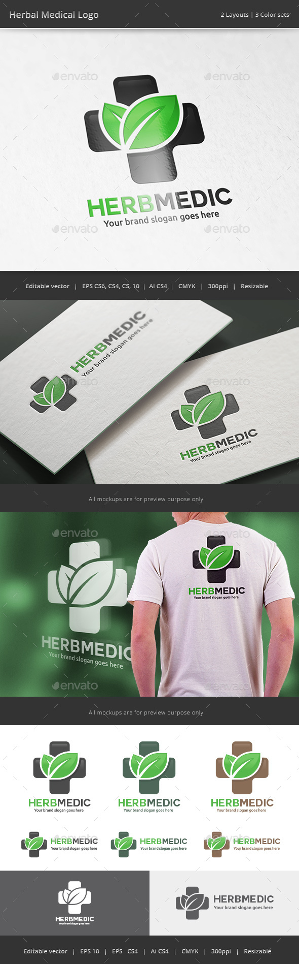 Herbal Medical Logo - Vector Abstract