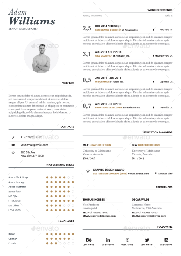 typographic resume vol  1 by paolo6180