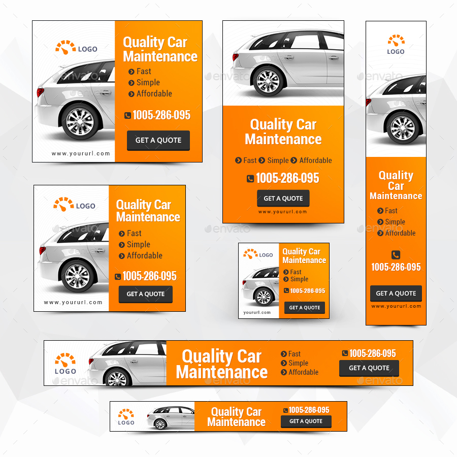 Car Maintenance Banners