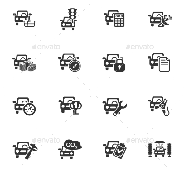 Car Service Icon Set - Miscellaneous Icons