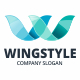 Wings W Letter Logo - GraphicRiver Item for Sale