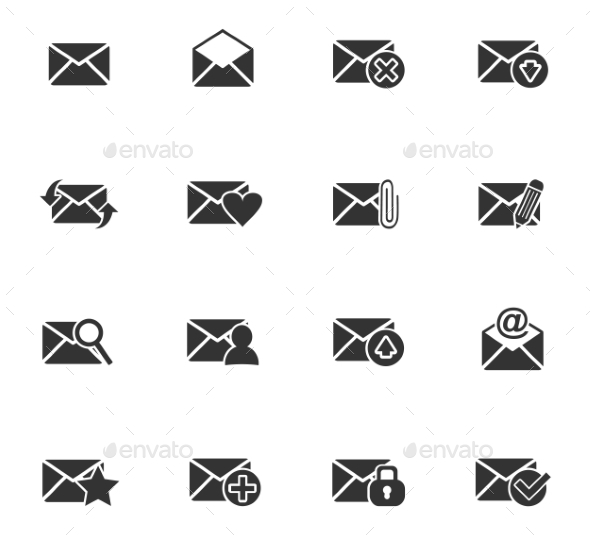 Mail And Envelope Icon Set - Miscellaneous Icons
