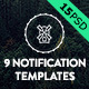 9 Notification Templates - GraphicRiver Item for Sale