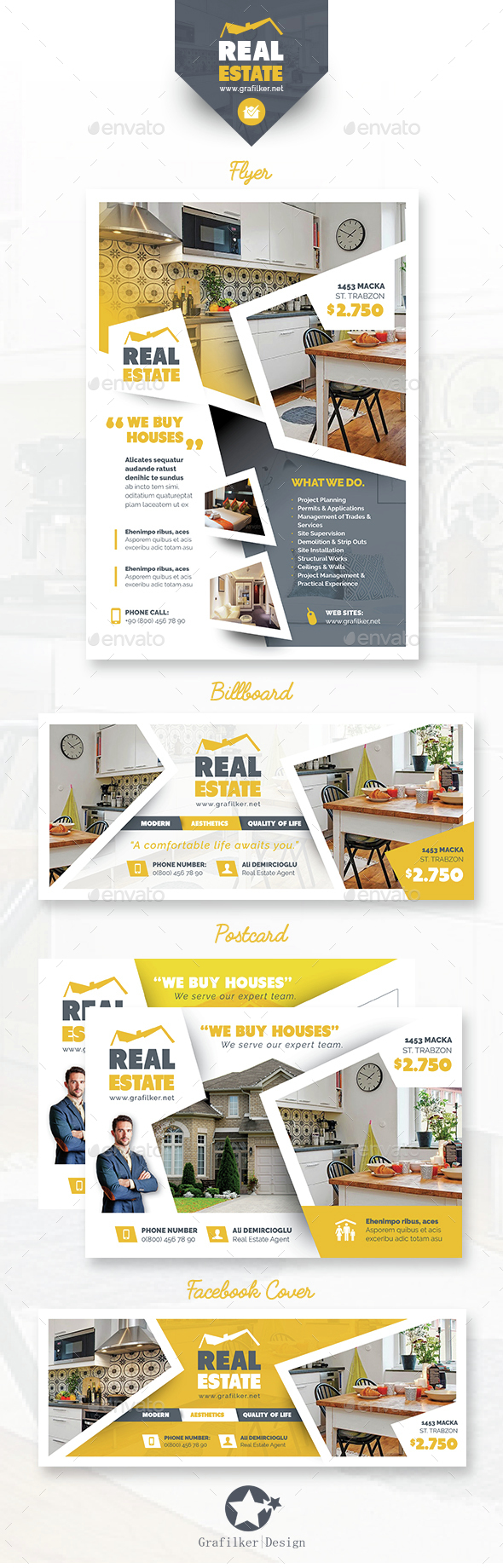 Real Estate Bundle Templates - Corporate Flyers