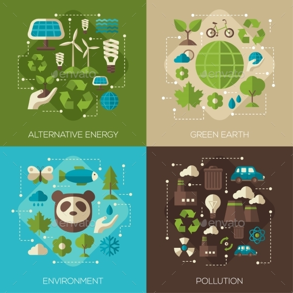 Environmental Protection, Ecology Concept Banners - Miscellaneous Conceptual