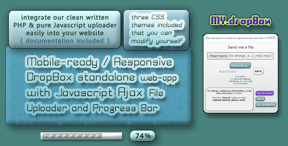 Personal DropBox place with easy File Uploading - CodeCanyon Item for Sale