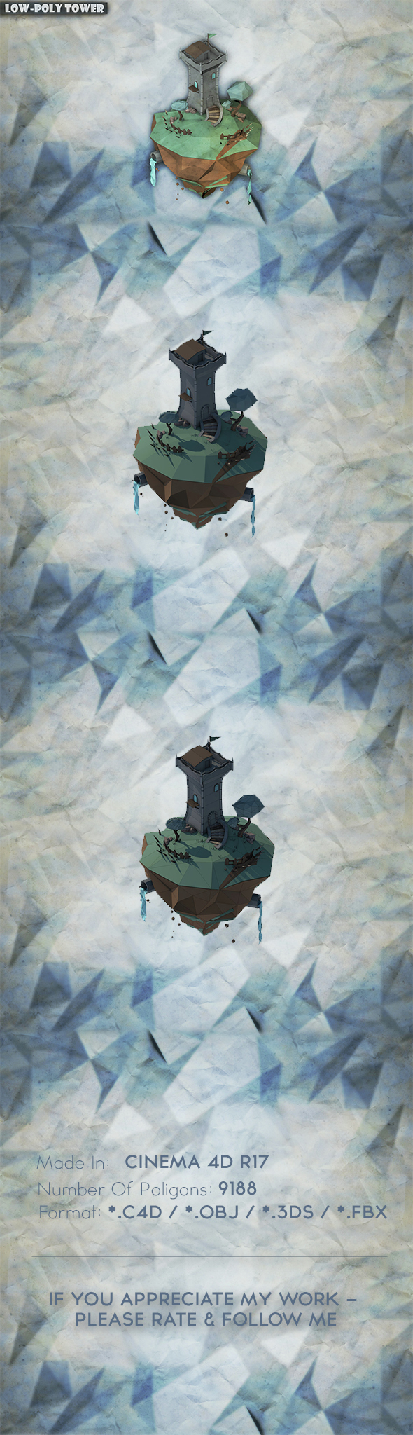Low Poly Tower - 3DOcean Item for Sale
